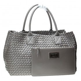 Сумка Bottega Veneta Cabat Intrecciato Nappa Tote Bag Dark Grey