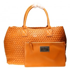 Сумка Bottega Veneta Cabat Intrecciato Nappa Tote Bag Orange