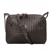 Intrecciato Nappa Messenger Bag Coffee