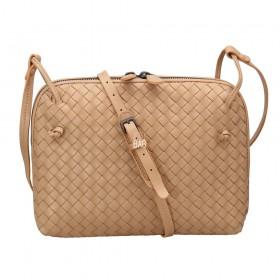 Сумка Bottega Veneta Intrecciato Nappa Messenger Bag Pudra