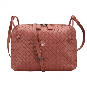 Сумка Bottega Veneta Intrecciato Nappa Messenger Bag Terracot