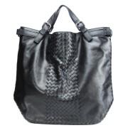 Intrecciato Tote Bag Black