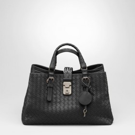 Сумка Bottega Veneta Intrecciato Nappa Tote Roma Bag PM Black