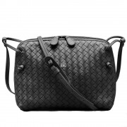 Intrecciato Nappa Messenger Bag Black